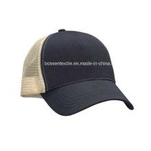 Nach Maß Baumwolle Plain Schwarz Trucker Style Baseball Cap Sport Hut