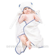 Baby Towel with Hooded, Super Soft Organic Bamboo Fibers, Absorbent, Hypoallergenic, Antibacteria & Free from Chemicals
