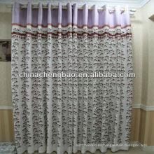 Tejido de cortina bordado pavo