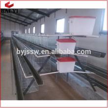 Cage de batterie de poulet de couche professionnelle / ferme de volaille de l'Ouganda