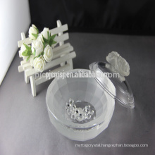 elegant dull polish crystal jewelry box with rose