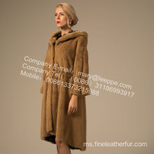 Winter Reversible Lady Kopenhagen Mink Overcoat