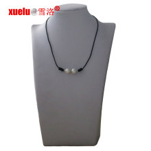 11-12mm Round Freshwater Pearl Leather Necklace Cheap Gift