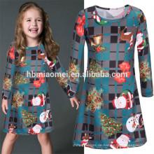 Fabrik-Preis-moderne Mädchen-Grün-Kleider Baby-Mädchen-Partei-Kleid 3-5 jährige Mädchen-Kleid für Weihnachten