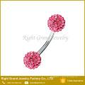 Горячая ! Розовый, Аква, Кристалл, синий, фиолетовый, Красный пирсинг брови стержня