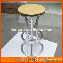 Mesita redonda de MDF y aluminio para bar taburetes de bar