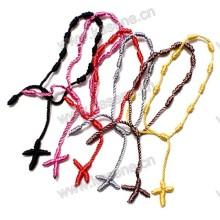 Смешивание цветов Дешевые шнур веревки Knotted Thread Розарий Браслет для женщин и мужчин
