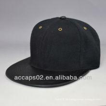 Leere lederne flache rechnung snapback caps