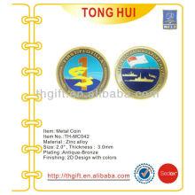 Metal Moneda conmemorativa, moneda de recuerdo con diseño militar
