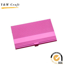 Portatarjetas promocional especial de metal rosa con alta calidad