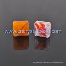 Vend en gros des perles de verre carré lâche de perles de cristal