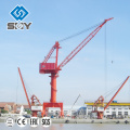 Outdoor slewing seaport jib portal crane port crane