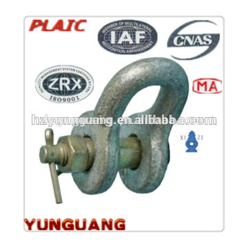 Hot-dip galvanized Shackle overhead lines Accessories power pole hardware electric transmission line construction fitting