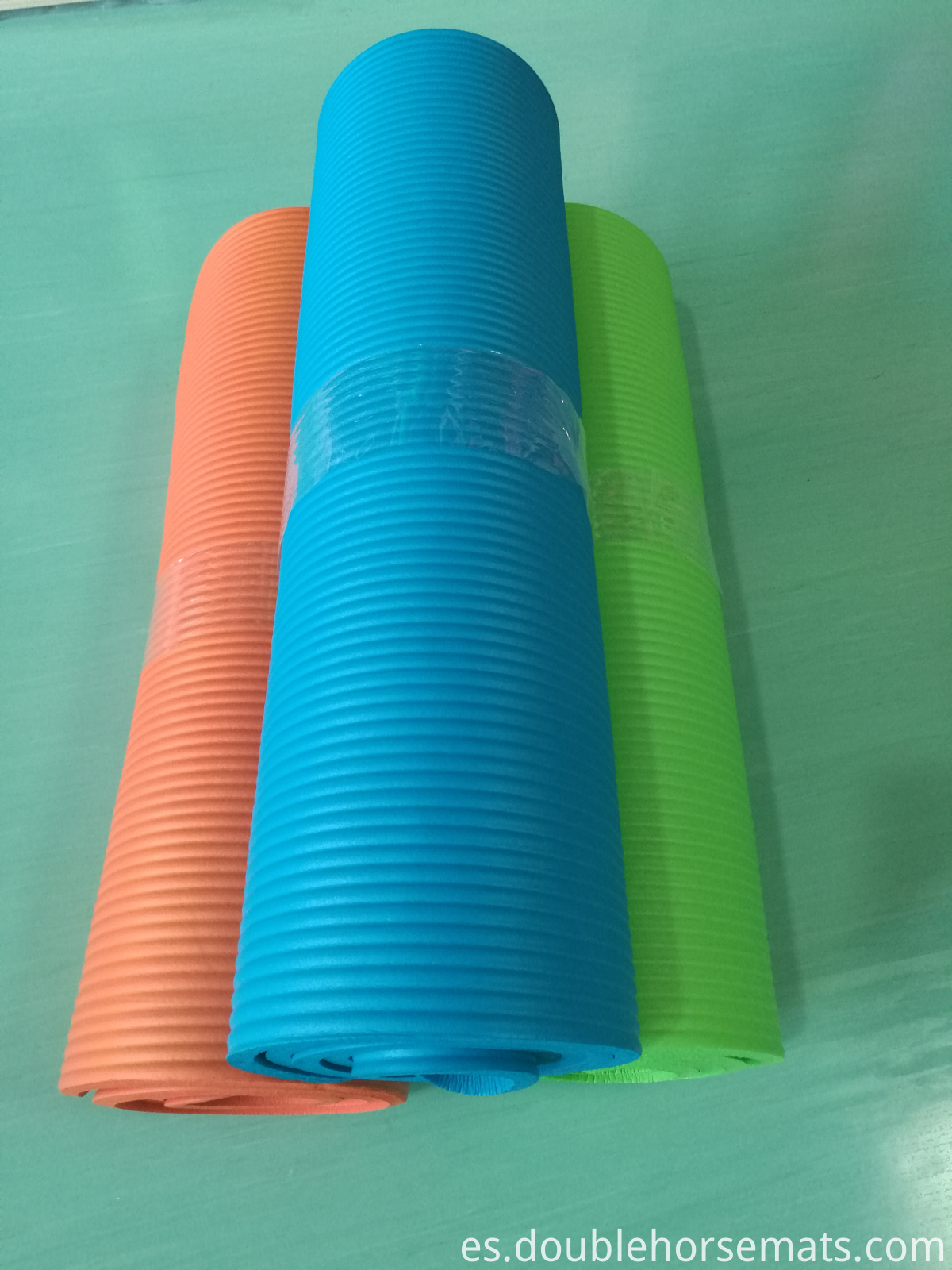 NBR vertical stripes yoga mat