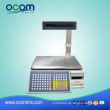Supermercado Label Printer Scale Báscula de pesaje Escalas de impresión de código de barras