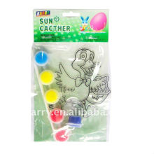 single pack fancy easter style suncatcher paint set