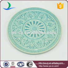 Vintage Muster Mini Runde Platte mit grüner Farbe