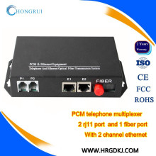 RJ11 Telefonanschluss fxs / fxo zum faseroptischen Konverter 2 Kanaltelefonmultiplexer