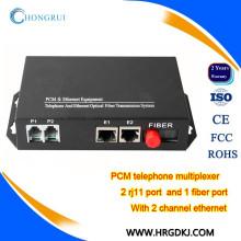 Сделано в Китае внешнего энергоснабжения телефон PCM мультиплексор аналоговых портов FXS по оптоволокну