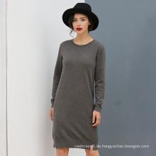 2017 Herbst Frauen Cashmere 7gg Gestrickte OEM Strickjacke Pure Color Lange Stil