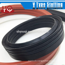 High compressing strength V packing seal Vee Stuffing packing ring for a vacuum pump rubber oil seals