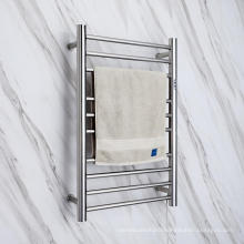 2021 Polished  Finished Electric Heating Towel Rack SUS304 Bathroom Heated Rail Towel Warmer 9005RT