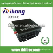4 canaux Convertisseur vidéo fibre optique monomode 20/40 / 60km haute qualité
