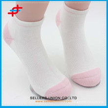 Breathable kids high quality polyester custom sports running socks