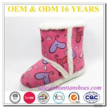 Personalizado bonito impresso camurça Inverno indoor botas para crianças