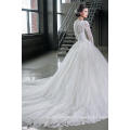 Latest Gowns Alibaba Elegant A Line Wedding Dresses Vestidos de Novia With Long Sleeve 2016 LWA06