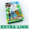 Regierung Autorität Erfahrung Kinder Englisch Aufkleber Aktivität Geschichte Buch mit Stiften