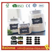 Étiquette de craie pour la marque de saveur de cuisine