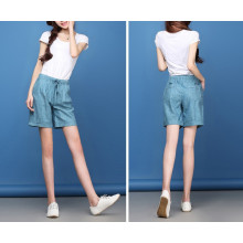 15PKPT04 2015 NEW lady fashionable summer 100% linen shorts