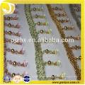 Franja de cuentas de plástico para vestidos y decoración del hogar