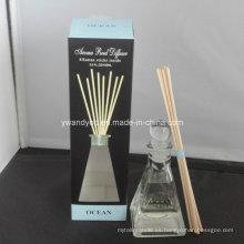 8 palos de ratán Ocean Aroma Home Reed difusor en botella de vidrio
