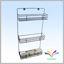 High quality factory manufacturer metal wire bath shelf