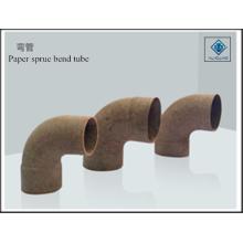 Paper bend tube sprue