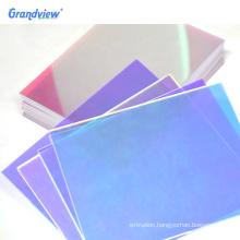 Custom size Iridescent acrylic rainbow cast coloured dichroic acrylic sheet