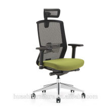 executive mesh chair with nylon base and fixed arms