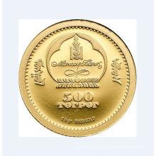 Moneda chapada en oro brillante personalizada para colección (GZHY-YB-012)