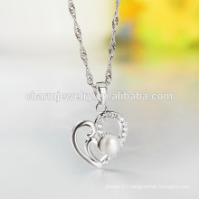 Famous Fashion Heart 925 Silver Necklace Wholesale 2016 Lastest Fashion Product SCR024