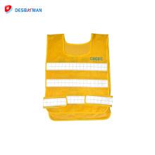 Top qualité jaune haute qualité vêtements de travail salut vis gilet de sécurité