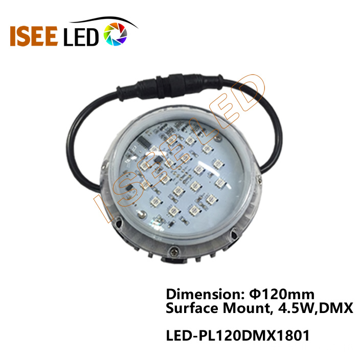 جولة 120mm DMX Pixel Lights RGB LED Dot