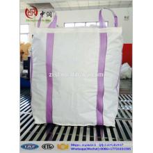 1 tonne bag, any color chosen,crossing corner loop,1000kg fibc bulk bag for mineral , construction