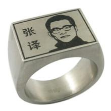 Anillo de dedo de diseñador para hombre personalizado