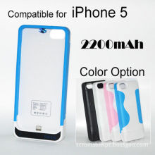 Accessories For Apple - 2200mah Backup Battery Case Power Pack Charger For Iphone 5 5g
