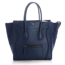 Dark Blue Original Leather Soft Suede Leather Lining Celine Luggage With Gold Hardware