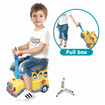 DIY Track Toy Ride On Car with Music Kitchen Sets Toy School Bus Toy