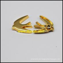 Forma de pájaro del remache de la aleación en color oro brillante