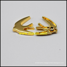 Bird shape Alloy Rivet in Shiny Gold color